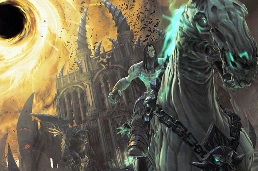 Death rides Despair in the video game Darksiders II.