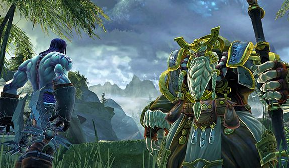 Death visits with the Maker Elder in the video game Darksiders II.