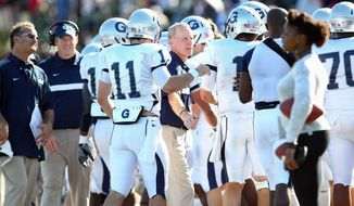 Kevin Kelly is coach of Georgetown University football team. (Georgetown Athletics)
