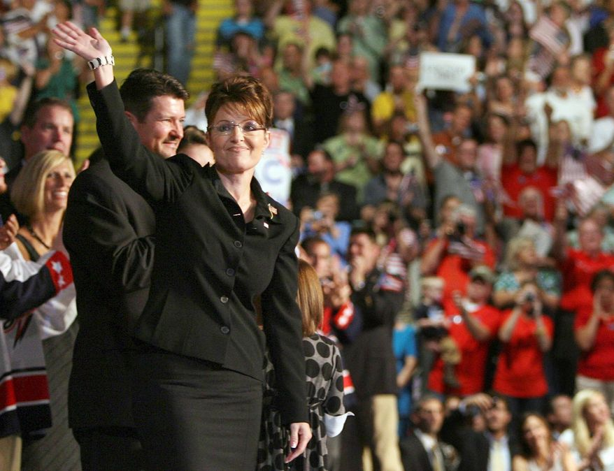 Then-Alaska governor Sarah Palin was introduced to America four years ago when Sen. John McCain of Arizona announced her as his Vice Presidential running mate. (Associated Press)