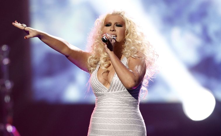 Christina Aguilera performs at the 39th annual American Music Awards in Los Angeles in November 2011. (AP Photo/Matt Sayles)