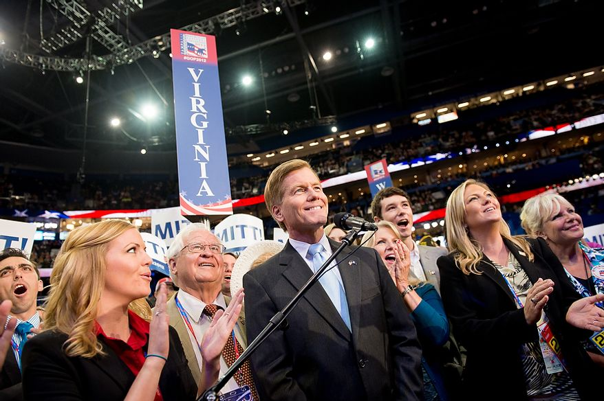 Virginia Gov. Bob McDonnell announces the Virginia votes for Mitt Romney for the Republican nomination for the next president of the United States at the Republican National Convention, Tampa, Fla., Tuesday, August 28, 2012. (Andrew Harnik/The Washington Times)