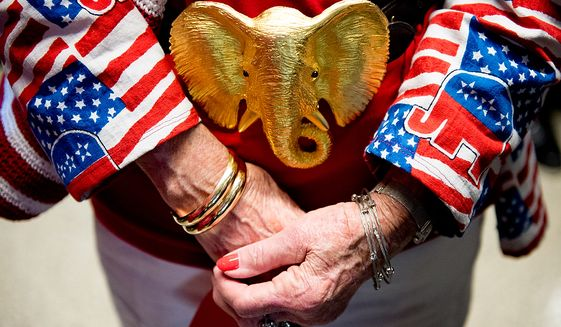 Alternative delegate from Jean, La., Billy Durnley wears a large elephant buckle at the Republican National Convention, Tampa, Fla., Tuesday, August 28, 2012. (Andrew Harnik/The Washington Times)