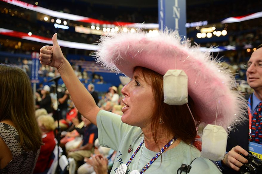 Waverly Woods, Virginia Beach Chapter Chairman of the Hampton Roads Tea Party at the Republican National Convention at the Tampa Bay Times Forum in Tampa, Fla. on Tuesday, August 28, 2012. (Andrew Harnik/ The Washington Times)
