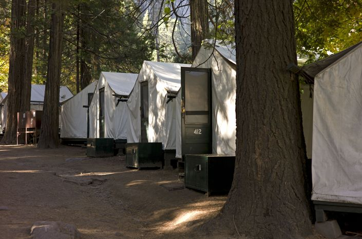 ** FILE ** Tent accommodations are pictured in Curry Village in California's Yosemite National Park in October 2011. (AP Photo/Ben Margot)