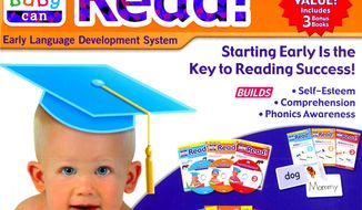 """The Federal Trade Commission has accused Robert Titzer of false and deceptive advertising for promoting his  """"Your Baby Can Read"""" program in ads and product packaging as a tool to teach infants as young as 9 months to read. (AP Photo/Federal Trade Commission)"""