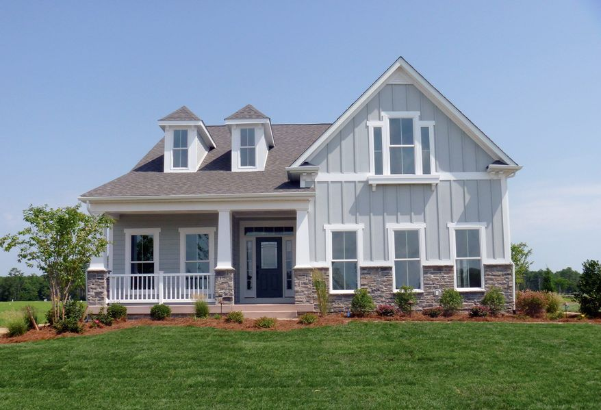 NV Homes is building town homes and villas at the Peninsula on the Indian River Bay in Millsboro, Del. The Bornquist model is base-priced at $329,990 or $354,990 and has 2,223 square feet of living space.