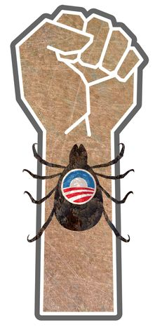 Illustration Union Parasite by Greg Groesch for The Washington Times