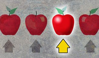 Illustration School Choice by Greg Groesch for The Washington Times