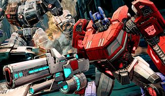 Optimus Prime co-stars in the video game Transformers: Fall of Cybertron.