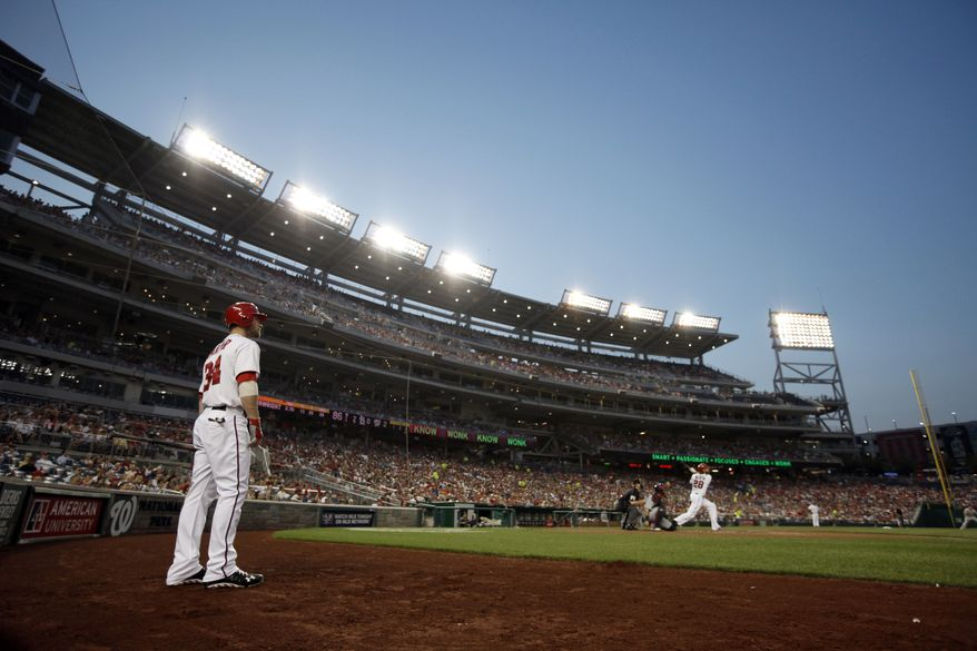 The Nationals have a .611 winning percentage at Nationals Park this season, their best home record in their history. (Associated Press)