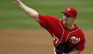 **FILE ** Washington Nationals starting pitcher Stephen Strasburg (AP Photo/Alex Brandon)
