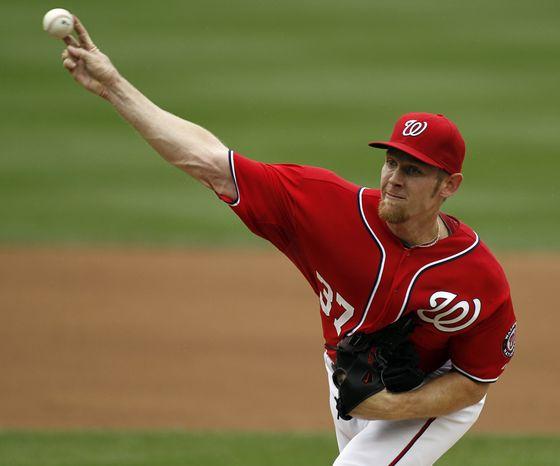 **FILE ** Washington Nationals starting pitcher Stephen Strasburg (AP Photo/Alex Brandon)