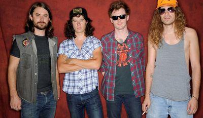 The Nashville, Tenn., rock band Turbo Fruits comprises (from left) Matt Hearn, Jonas Stein, Dave McCowen and Kingsley Brock. (Associated Press)