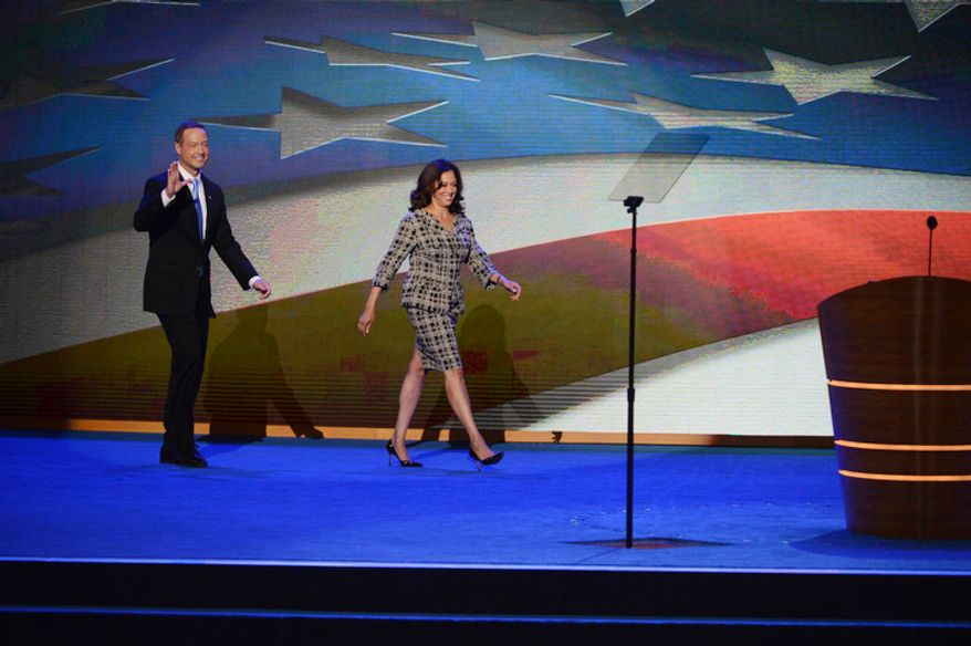Presentation of Rules Committee Report from Co-Chairs The Honorable Kamala D. Harris State Attorney General of California and The Honorable Martin O'Malley Governor of Maryland at the Democratic National Committee gavels in the Democratic National Convention. (Andrew Geraci/ The Washington Times)