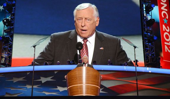 Rep. Steny Hoyer, D-Md., Parliamentarian of the 2012 Democratic National Committee Convention and House Democratic Whip addresses the Democratic National Convention2. (Barbara Salisbury/ The Washington Times)