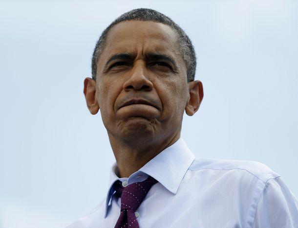 President Obama speaks Sept. 4, 2012, during a campaign event at Norfolk State University in Norfolk, Va. (Associated Press)