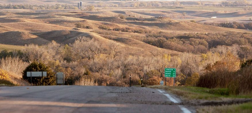 The Sandhills, near Mills, Neb., is an environmentally sensitive area. TransCanada hopes to build the Keystone XL pipeline through the area to transport crude from Canada to the Gulf Coast. The company said Wednesday it has revised the route. (Associated Press)
