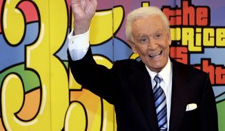 "** FILE ** Game-show host Bob Barker tapes his final episode of ""The Price Is Right"" in Los Angeles on June 6, 2007. (AP Photo/Damian Dovarganes)"