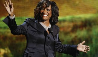 Singer Patti LaBelle accepts the Lifetime Achievement Award at the BET Awards in Los Angeles on Sunday, June 26, 2011. (AP Photo/Matt Sayles)