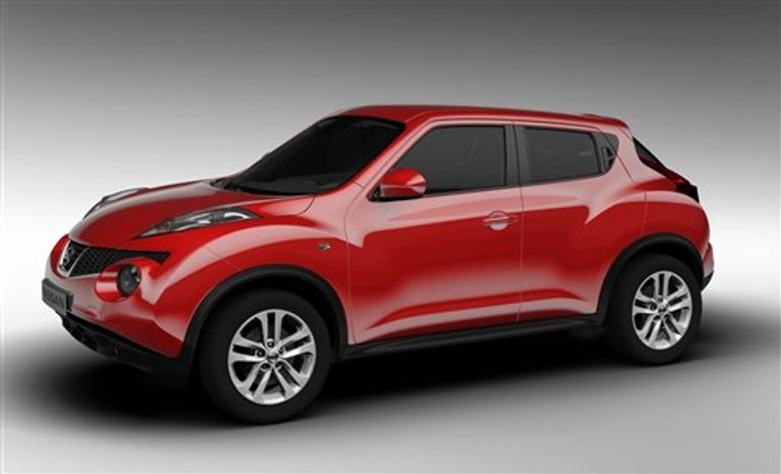 This undated file publicity photo released by Nissan Motor Company shows the all-new small crossover Nissan Juke. Sales of the Nissan Juke have been anemic so far this year. (Associated Press)