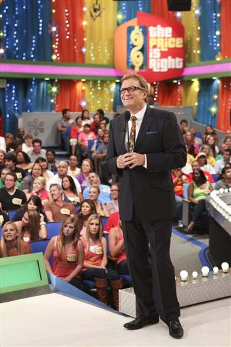 """** FILE ** """"The Price is Right"""" is hosted by Drew Carey. (Associated Press)"""