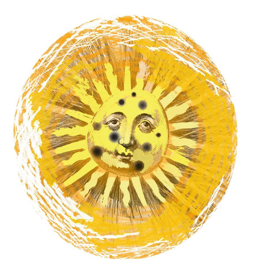 Illustration Sun Spots by John Camejo for The Washington Times