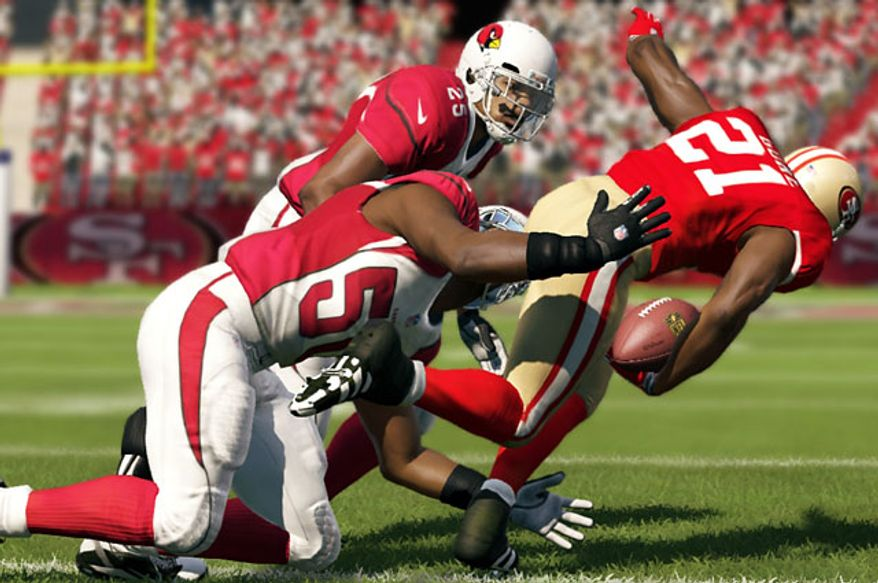 Cardinals versus 49ers in the video game Madden NFL 13.