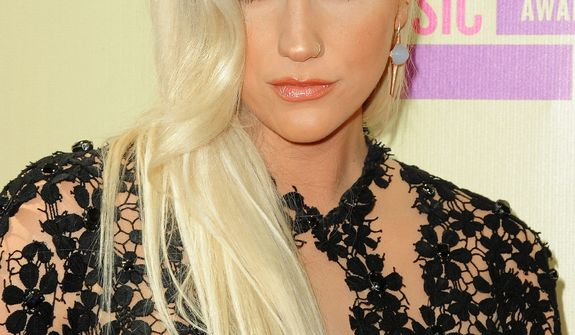 Ke$ha attends the MTV Video Music Awards on Thursday, Sept. 6, 2012, in Los Angeles. (Photo by Jordan Strauss/Invision/AP)
