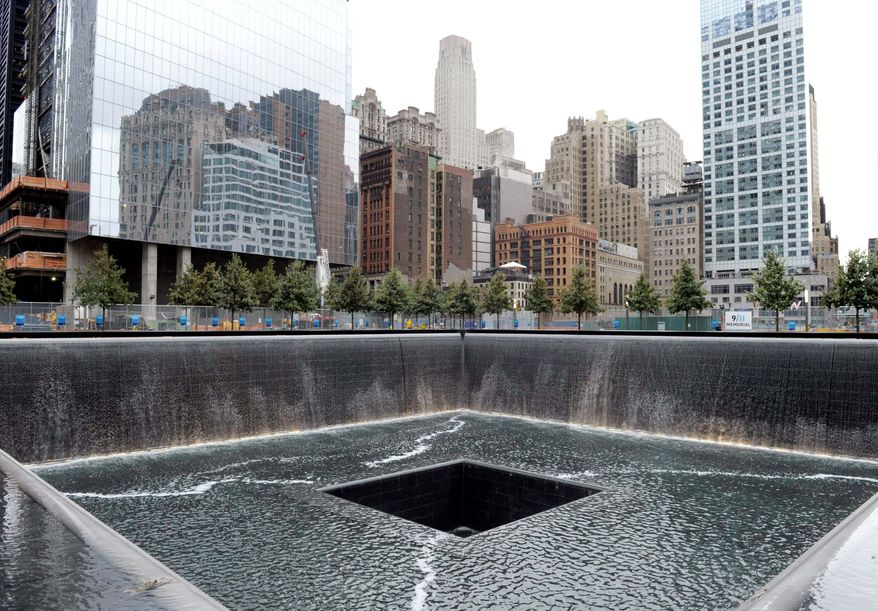 The National Sept. 11 Memorial & Museum at the World Trade Center will cost $60 million a year to operate once the roughly $700 million project is complete. Just operating the fountains marking the spots where the twin towers once stood will cost $4.5 million to $5 million annually. (Associated Press)