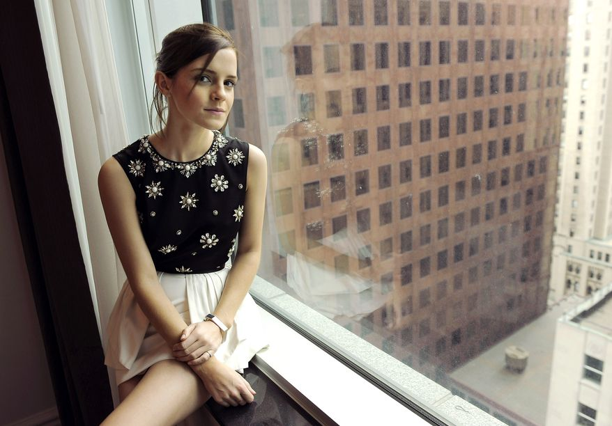 "Emma Watson, a cast member in ""The Perks of Being a Wallflower,"" poses for a portrait at the 2012 Toronto Film Festival on Sunday, Sept. 9, 2012, in Toronto. (Photo by Chris Pizzello/Invision/AP)"
