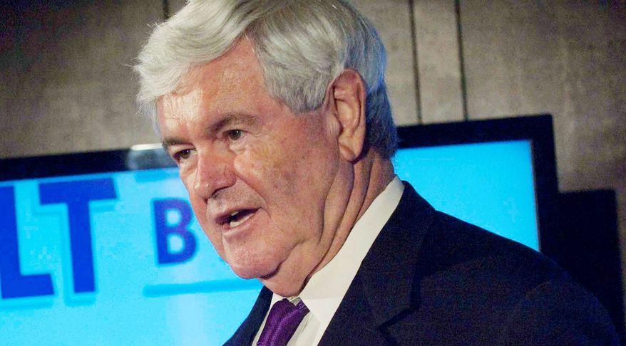 ** FILE ** Former House Speaker Newt Gingrich (The Washington Times)