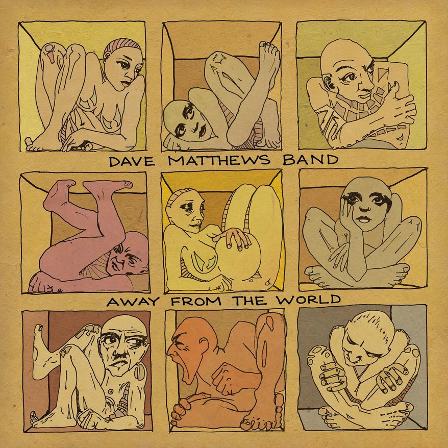 "Album cover for Dave Matthews Band ""Away From the World""."