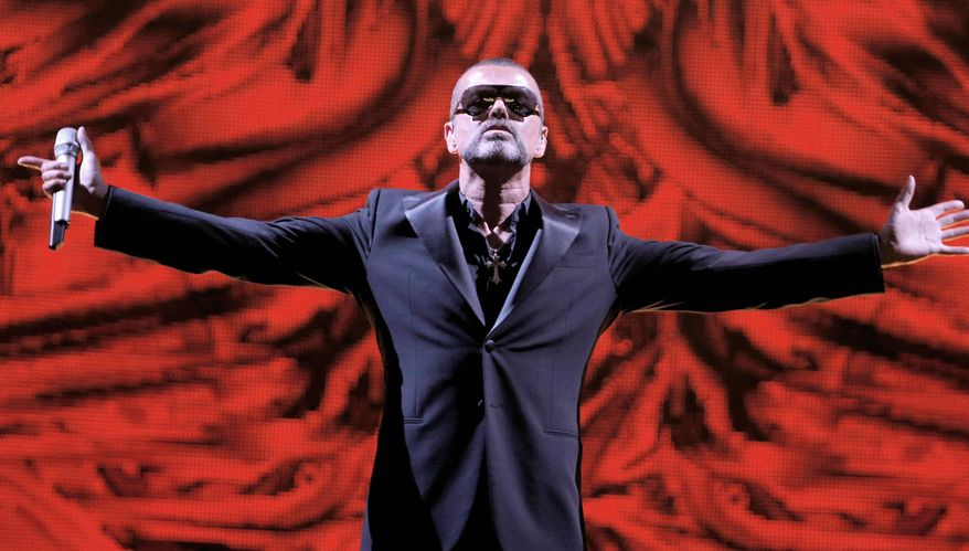 George Michael on Sunday became the first pop singer to play a gig at the Paris Opera. The concert was in support of the AIDS-related charity Sidaction. (Associated Press)