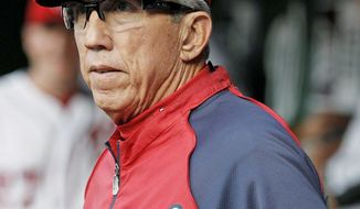 Manager Davey Johnson says the three games in New York come before thinking about Atlanta this weekend. (Associated Press)