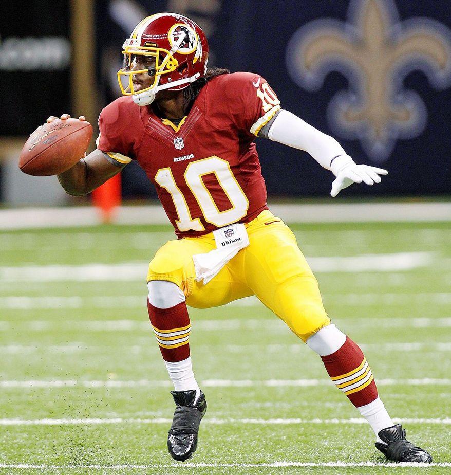 ** FILE ** Robert Griffin III of the Washington Redskins. (Associated Press)