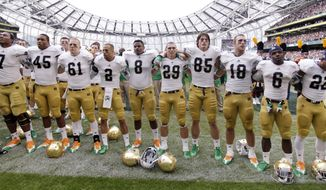 Notre Dame football will maintain its independent status and its TV agreement with NBC. All other Notre Dame sports will depart the Big East Conference for the ACC at a date to be determined. (Associated Press)