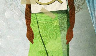 Illustration Muslim Obama 4 by Alexander Hunter for The Washington Times