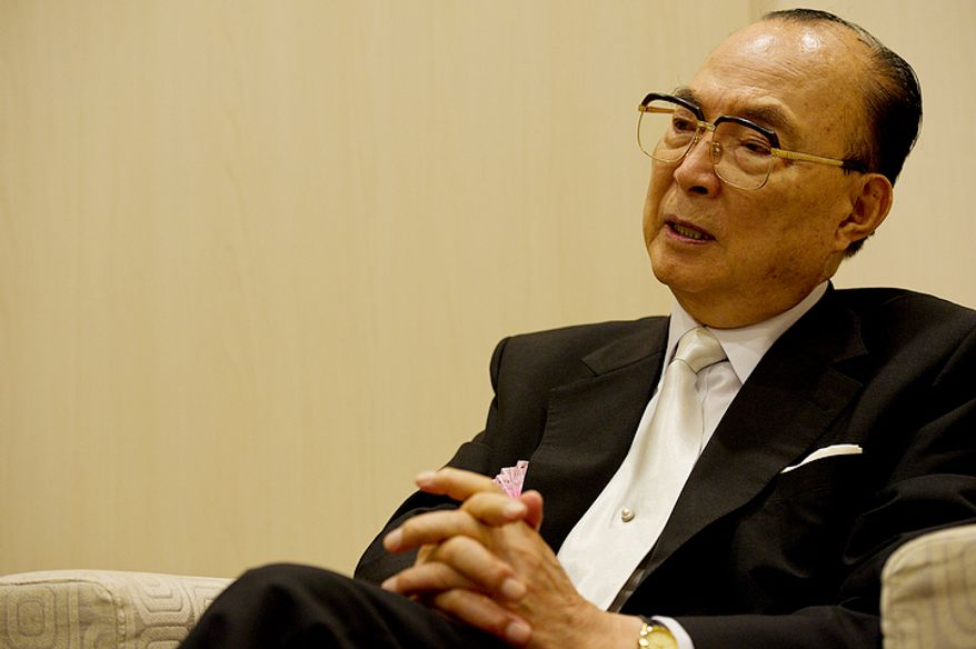 """Dr. Bo Hi Pak told The Washington Times on Wednesday, Sept. 12, 2012 that he believes the Unification Church is """"going to grow by leaps and bounds"""" following the death of founder Rev. Sun Myung Moon. He says that members are determined to live up to the reverend's expectations, and that he personally will """"do as much as I can until I die to serve Rev. Moon and Mrs. Moon."""" He said he never saw the reverend waiver in his mission. (Barbara L. Salisbury/The Washington Times)"""