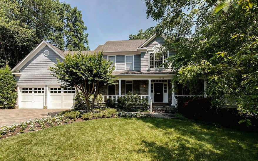 The home at 5511 Cornish Road in the Bradley Hills neighborhood in Bethesda is on the market for $2,150,000.