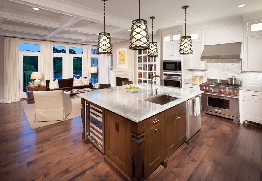The Regent has a center-island kitchen.