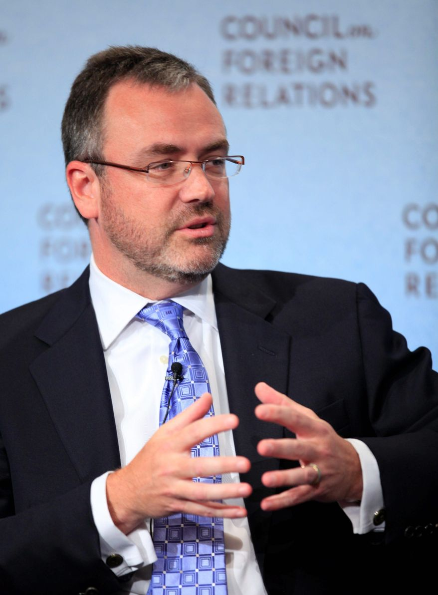 Steve Capus, President of NBC News, speaks at the Council on Foreign Relations, Thursday, Sept. 10, 2009 in New York. (Associated Press)