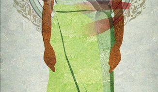 Illustration Muslim Obama 5 by Alexander Hunter for The Washington Times