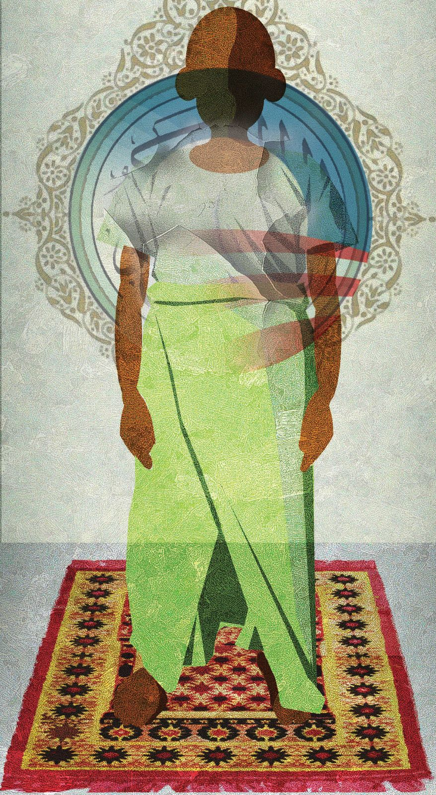 Illustration Muslim Obama 5 by Alexander Hunter for The Washington Times