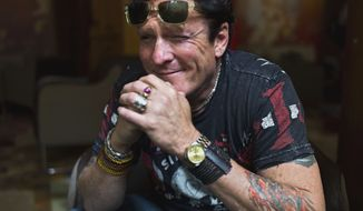 Actor Michael Madsen poses at the Hotel Plaza Athenee in Paris on Wednesday, June 6, 2012, during the Champs-Elysees Film Festival. (AP Photo/Thibault Camus)