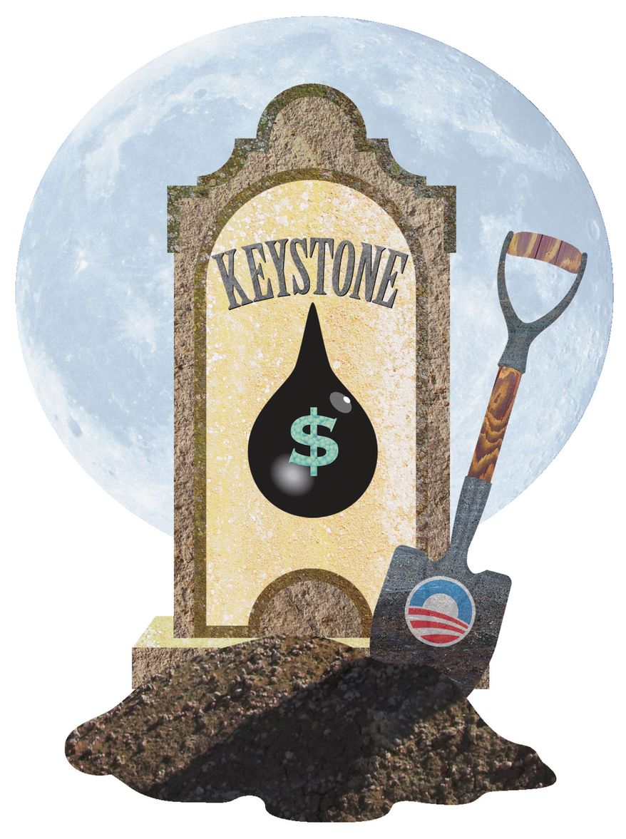 Illustration Oil Grave by Greg Groesch for The Washington Times