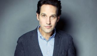This Aug. 21, 2012 photo shows actor Paul Rudd posing at the Grace Hotel in New York. Rudd is hosting a bowling benefit next month in New York for the first time to support Our Time, a nonprofit that helps children who stutter. (Photo by Victoria Will/Invision/AP)