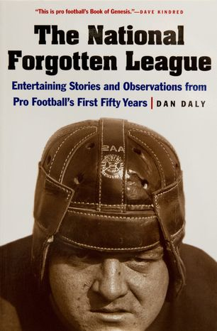 Cover of the book The National Forgotten League by Dan Daly, in Washington, D.C., Tuesday, September 11, 2012. (Rod Lamkey Jr./The Washington Times)