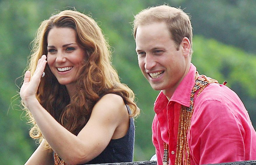 Prince William and his wife, Kate, have continued their tour as the controversy over revealing photographs continues. They were in the Solomon Islands on Monday. (Associated Press)