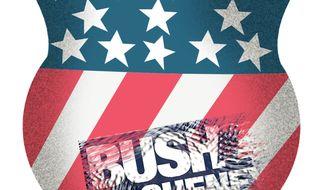 Illustration Bush Cheney Thumbprint by John Camejo for The Washington Times